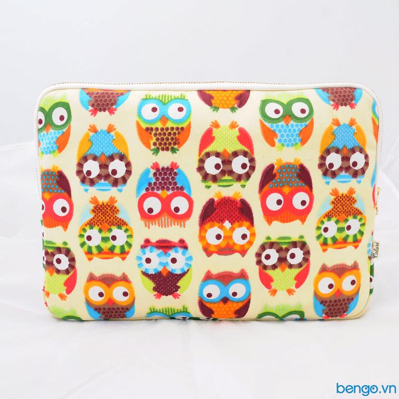 Túi bảo vệ và làm đẹp Laptop Coloré – Hoạ tiết cúmèo